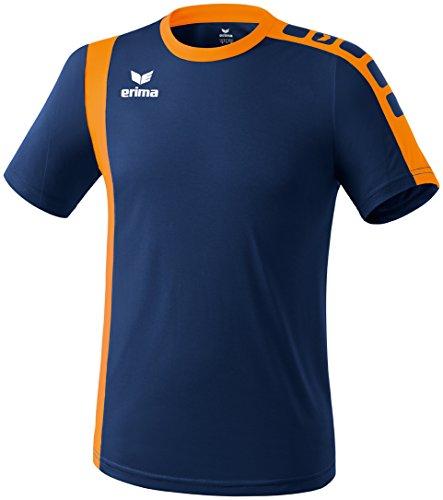 Erima Erwachsene Trikot Zamora, New Navy/Neon Orange, L, 613524 (Kurzarm-volleyball Trikot)