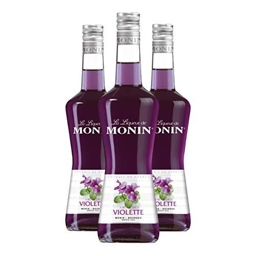MONIN Crème de Violette - Liqueur, 3er Pack