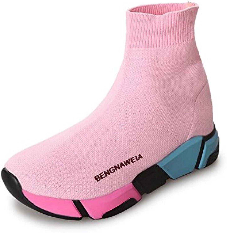 GAOLIXIA Calcetines de Color Zapatos Mujer Primavera Nuevo Antideslizante Zapatos Altos Transpirables Botas de...