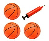 Set of 3 Inflatable Magic Shot Pro Mini Hoop Basketballs with Pump (4-Inch)