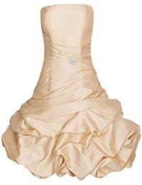 ROBLORA Robe De Cérémonie Soirée Cocktail Mariage Robe Demoiselle D'honneur bustier courte Dress 12