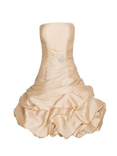 ROBLORA Robe De Cérémonie Soirée Cocktail Mariage Robe Demoiselle D'honneur bustier courte Dress 12 Champagne