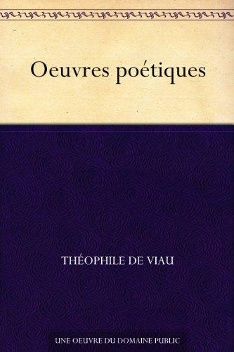 Couverture du livre Oeuvres poétiques
