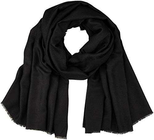 PIECES Damen Schal PCKENJA Long Scarf NOOS, Schwarz Black, One Size