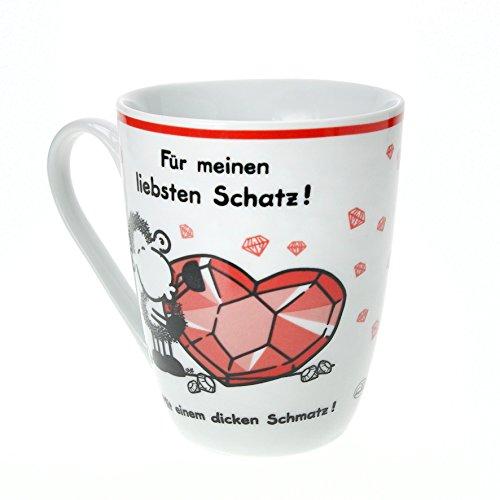 """Sheepworld 59233Lieblingstasse \""""Für meinen liebsten Schatz\"""", Porzellan"""