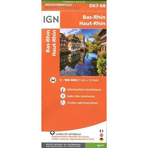 Bas-Rhin, Haut-Rhin : 1/150 000