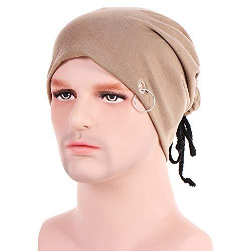 Hip-Hop Mütze Kopftücher Schal Turban Hut Headwear Beanie Kappe Schal Weich Slouchy Kopfbedeckungen Kopf Wraps Infinity Schal Cap Bandana Baumwolle,EINWEG Verpackung ()