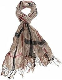 La Modeuse - Foulard doux en viscose à larges carreaux noirs et rouges
