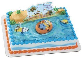 Item#40976 - Despicable Me 2 Beach Party Cake Toppers by CakeSupplyShop (Despicable Me Supplies Party 2)