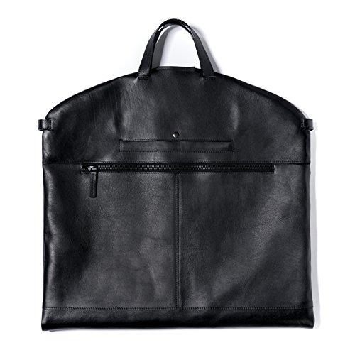 FEYNSINN Kleidersack echt Leder Arik groß Kleidertasche Anzugtasche Ledersack Herren schwarz