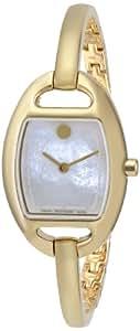 Movado MIRI 606608 24mm Gold Steel Bracelet & Case Anti-Reflective Sapphire Women's Watch