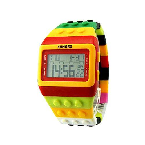 Uhr Uhren Sportuhr armbanduhr DAY.LIN Unisex bunte digitale Armbanduhr (E)