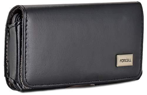 Burkley Exkluisve Gürteltasche geeignet für Samsung Galaxy S5 / S5 Neo Quertasche Seitentasche mit Gürtel-Clip und Gürtelschlaufe - hochwertige Qualität (Schwarz)