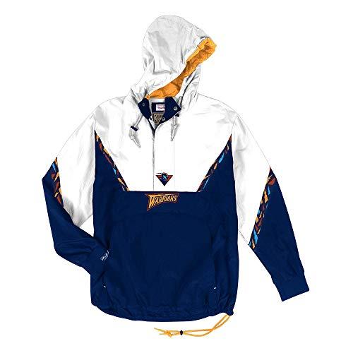 Mitchell & Ness NBA Half Zip Team Colour Anorak Golden State Warriors Navy/White (XXL) Nylon-anorak Pullover