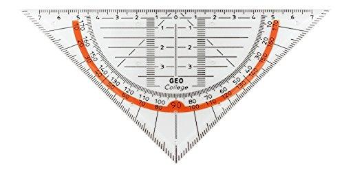 geotec Triangle Géométrie GeoCollege, polystyrène, 16cm, transparent