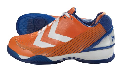 Hummel REBEL KARMA 60-048-0030, Scarpe sportive Uomo - Indoor Arancione (Orange (ZEST ORANGE/OLYMPIC BLUE/WHITE 0030))