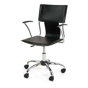 Poltrona sedia operativa braccioli da ufficio camera nero for Sedia da ufficio amazon