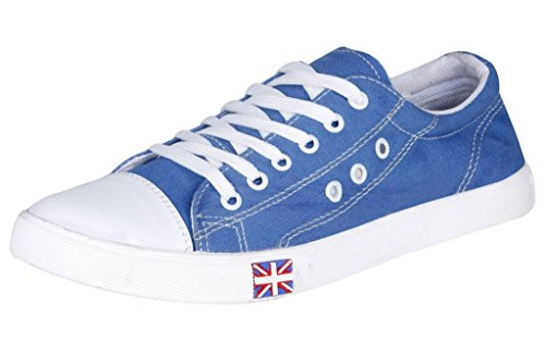 Kraasa Men's Denim Skyblue Sneakers - Uk 9