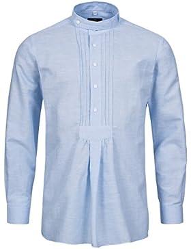 Hammerschmid Trachtenhemd Regular Fit mit Riegel in Hellblau