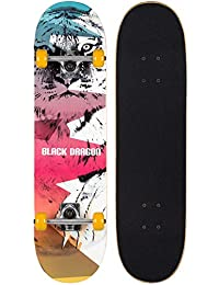 Black Dragon Kids Skateboard Street Native White/Yellow/Fuchsia/Green