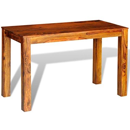 Vidaxl tavolo da pranzo in legno massello di sheesham 120 x 60 76 cm