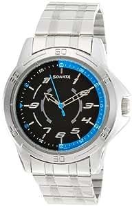 Sonata Analog Black Dial Men's Watch-NK77001SM01