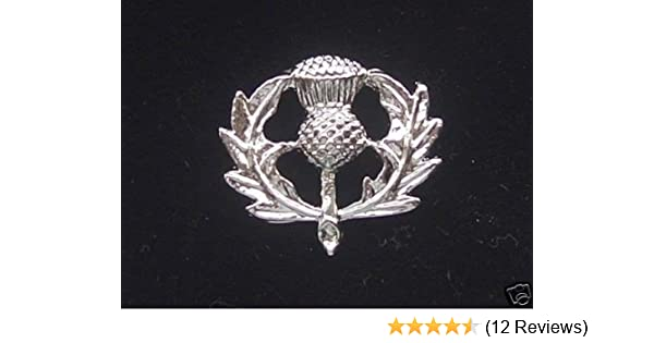 Quality Pewter Scotland Lapel Brooch Scottish Thistle Pin Badge