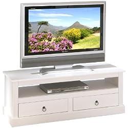 Links 20901530 Provence 3 - Mueble de Televisión (Pino), color blanco