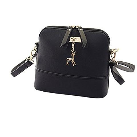 Sac à bandoulière, LHWY Femmes nouveau Messenger sacs petite coquille en cuir sac à main (C)