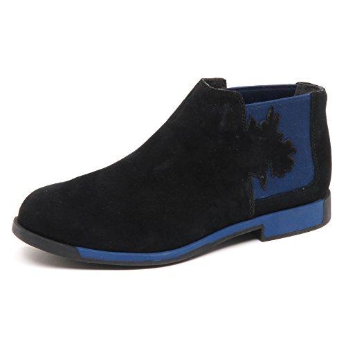 Camper D8630 (Without Box) Beatles Donna Nero/Blu Boot Shoe Woman Nero/Blu