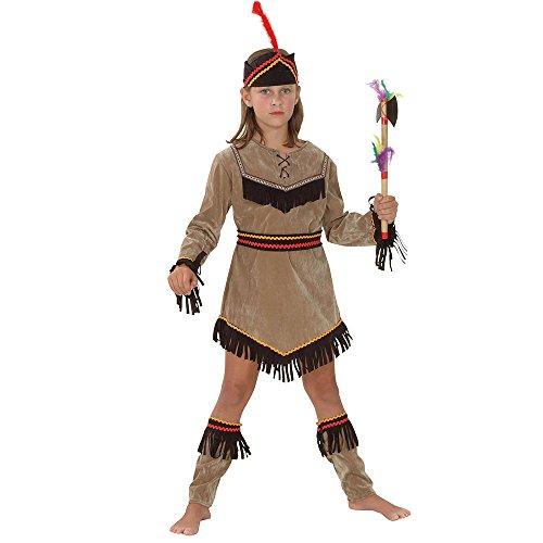 Bristol Novelty qualitativ hochwertiges Indianermädchen-Kostüm, Größe XL, für Kinder von 9-11Jahren - Alten Wild West Kostüm
