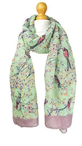mint-japanese-bird-cherry-blossom-print-scarf-scarves-wrap-shawl-winter-pashmina-christmas-gift