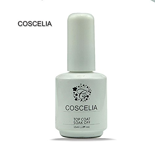 Coscelia Gel UV De Finition Top Coat Soak off Pour Vernis Ongle Manucure 15ml