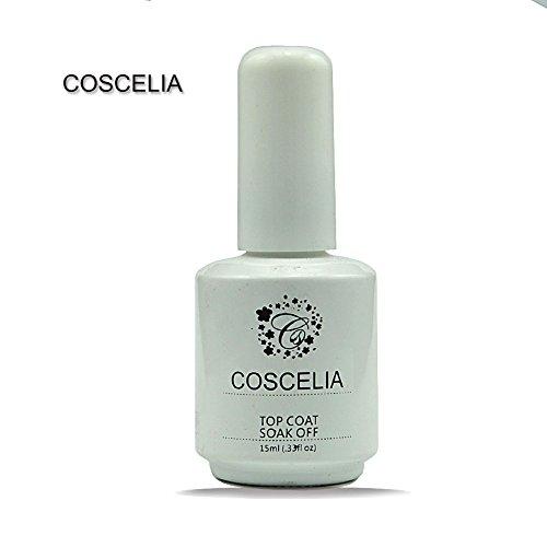 Coscelia Gel UV De Finition Top Coat Soak off Pour Vernis Ongle Manucure 15ml