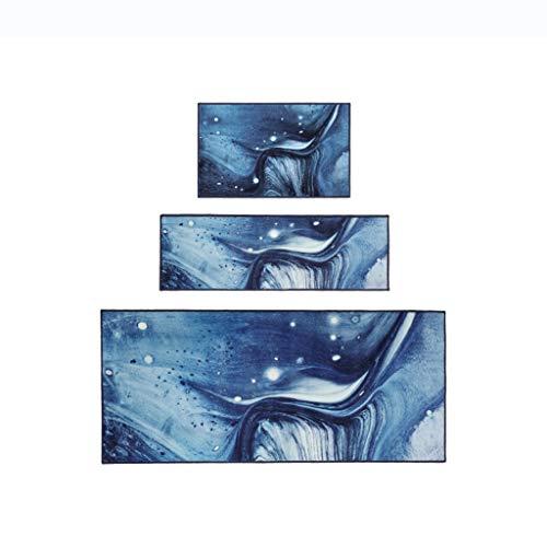DING Rug Azure Xinghe Serie Einfache Mode Design Nachttischdecke in die Türdecke Kabinett Küche Teppich (Farbe : Blau, größe : 80cm×180cm) -