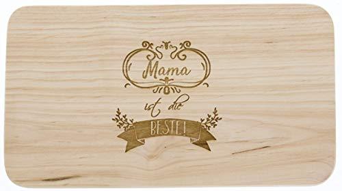 Meinbecher tagliere in legno erle, mama è la migliore, festa della mamma, regalo per donne, tagliere in legno, idea regalo per mamma.