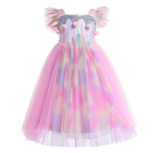 nzessin Mädchen Cosplay Festlich Geburtstagsfeier Karneval Party Kleider für kinder/140 ()