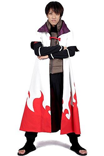 ACGCos Naruto Shippuden Leaf Yondaime Hokage Namikaze Minato Outfit 4th (Kostüm Minato Cosplay)