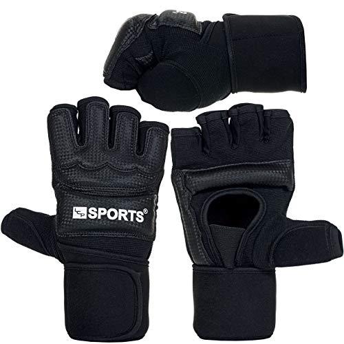 MMA Box Handschuhe Set Black | 10 mm Dicke Polsterung | PU Leder |Sparring Grapling; Größe L -
