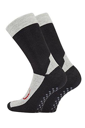 3 Paar Homesocks ABS-Stopper-Socken, Farbe:Schwarz;Größe:43-46