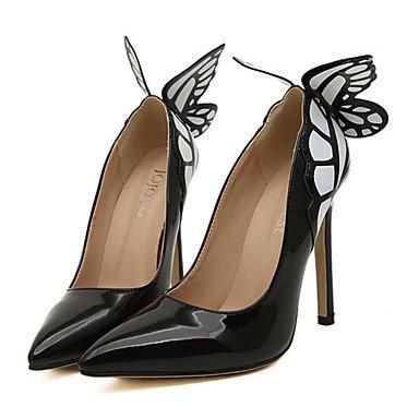 Zormey Women'S Shoes Stiletto Heel Heels Pumps/Heels Outdoor/Kleid Schwarz/Gelb. US6.5-7 / EU37 / UK4.5-5 / CN37