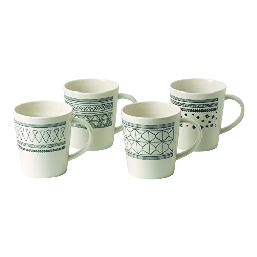 Royal Doulton Mug 4 PC Set, Gris Anthracite, Lot de 4