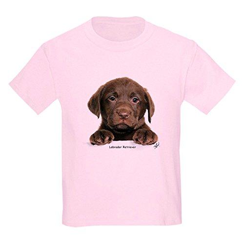 CafePress-Schokolade Labrador Retriever Puppy 9y270d-050Kids-Youth Kids Baumwolle T-Shirt Gr. Kinder M, Hellrosa -