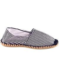 Reservoir Shoes - Espadrille pas chère homme Reservoir Shoes Marinière Bleu