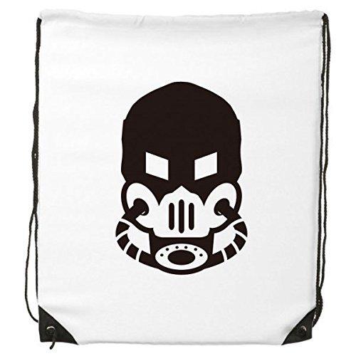 ltverschmutzung Gas Maske Counter Strike Silhouette Muster Kordelzug Rucksack feine Linien Shopping Creative Handtasche Schulter Umweltfreundliche Tasche aus Polyester (Wirklich Coole Masken)