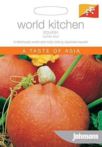 Samen-Paket: Johnsons Welt Gemüse - Pictorial Pack - Squash Uchiki Kuri - 20 Samen