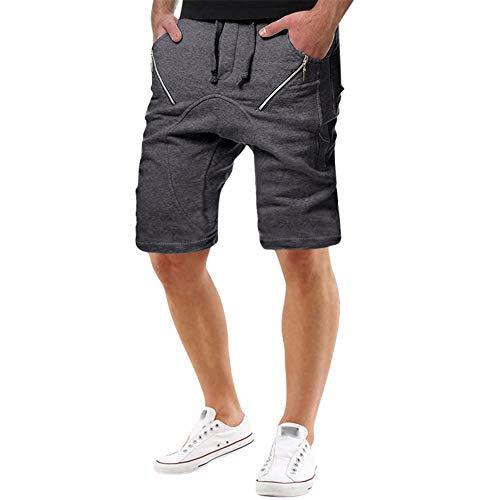 �verschlusstasche Baumwolle Multi-Pocket Cargo Shorts Freizeit-Shorts Kurze Hose Jogginghose Sweatpants ()