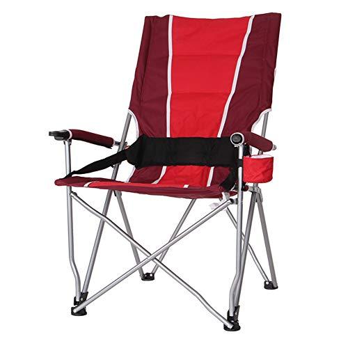 Camping Klappstuhl Hohe Rückenlehne Tragbar mit Tragetasche Einfache Einrichtung Gepolstert Atmungsaktiv und Bequem für den Außenbereich, Leichter Aluminiumrahmen, Unterstützung £ 200,C -