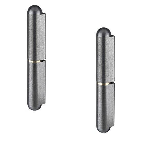 2x GedoTec Paumelle à souder Charnière Rouleau de ruban Longueur 60 mm Acier brillant marque de qualité