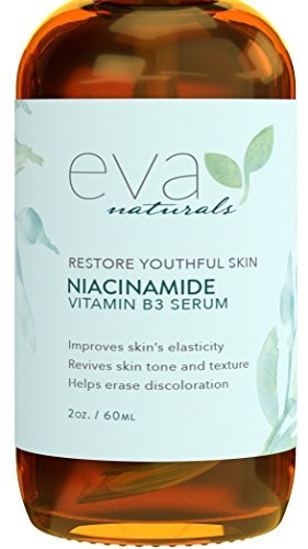 Vitamin B3 5% Niacinamide Serum by Eva Naturals (2 oz) - Niacinamide Benefits Skin with Incredible Anti-Aging